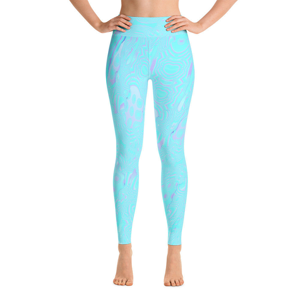 Switch Blue Mix - High Waist Yoga Pants