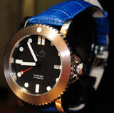 'ATLANTIS' 44MM SS AUTOMATIC WITH GENUINE SAPPHIRE CRYSTAL - STERILE BEZEL