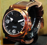 'MODELLO RG' 44MM ROSE GOLD SS MARINA MILITARE STYLE THICK GENUINE LEATHER