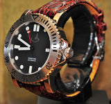 'ATLANTIS' 44MM SS AUTOMATIC WITH GENUINE SAPPHIRE CRYSTAL - INSCRIPTED BEZEL
