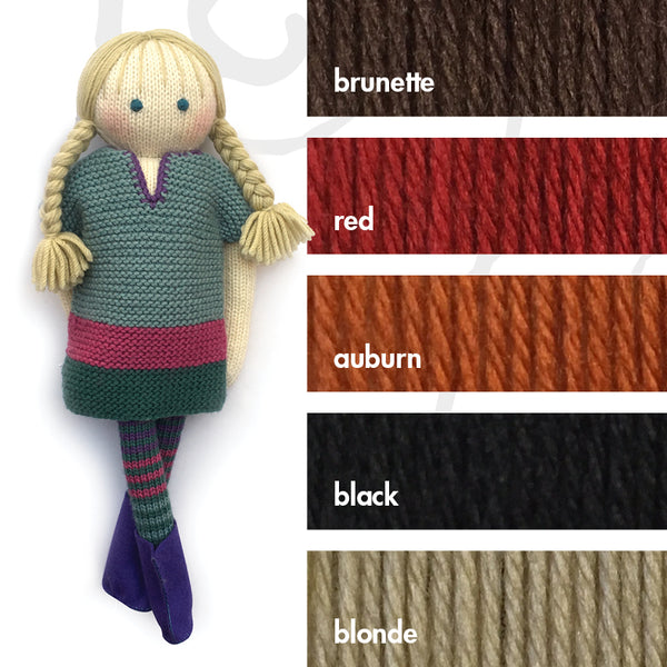 43cm classic knitted doll starter kit