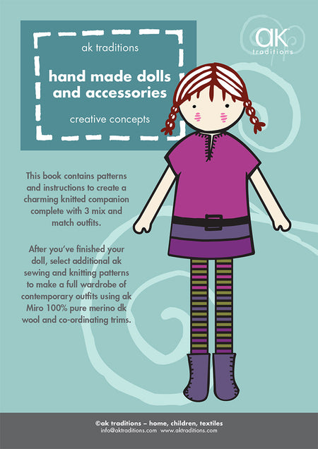 Knitted Dolls clothes and accessories, (43cm doll) e-pattern