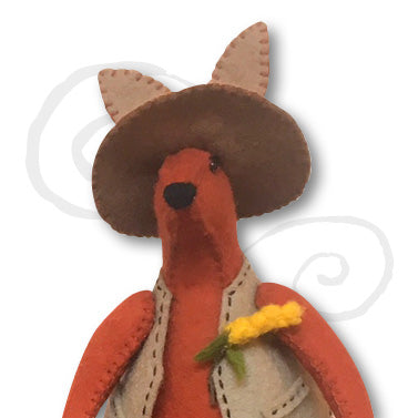 Big Red, Ruby and joey, felt bush kangaroo kit