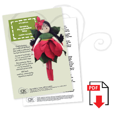 Carmen, the poinsettia fairy e-pattern