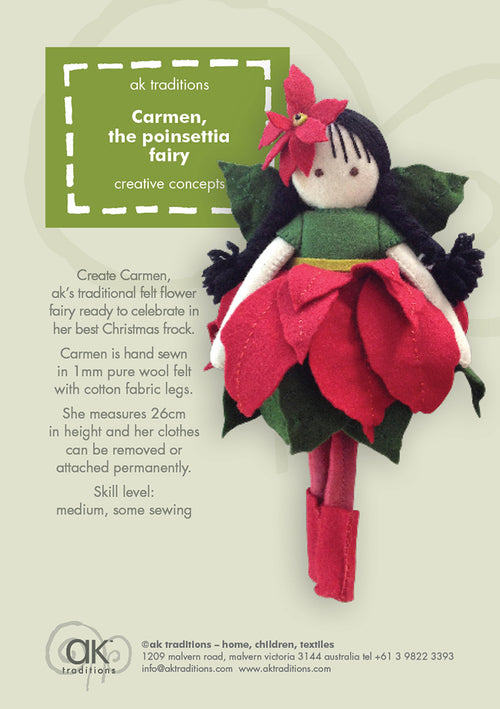 Carmen, the Poinsettia fairy kit