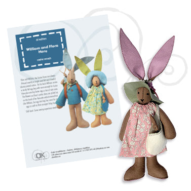 Flora and William, felt hare kit