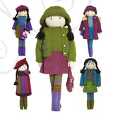 knitted dolls clothes and accessories