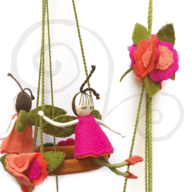 Readymade Life's A Swing Flower Fairy Mobile