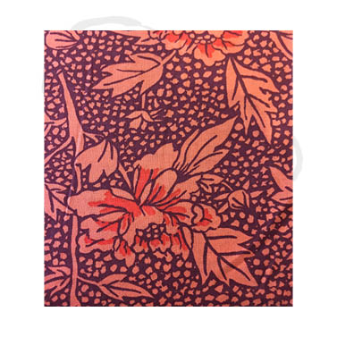 Peony fabric - burgundy/red