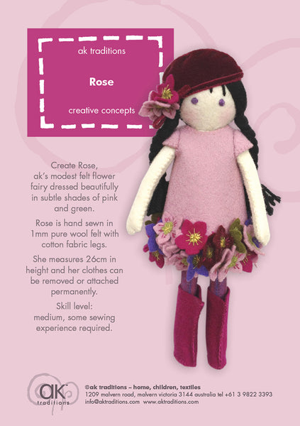 Rose, the Christmas Rose fairy kit