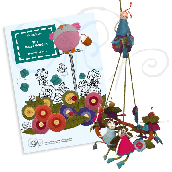 up in the tree-tops mobile, sewing kit