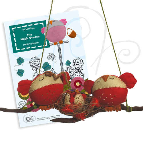 family life wall hanger, sewing kit