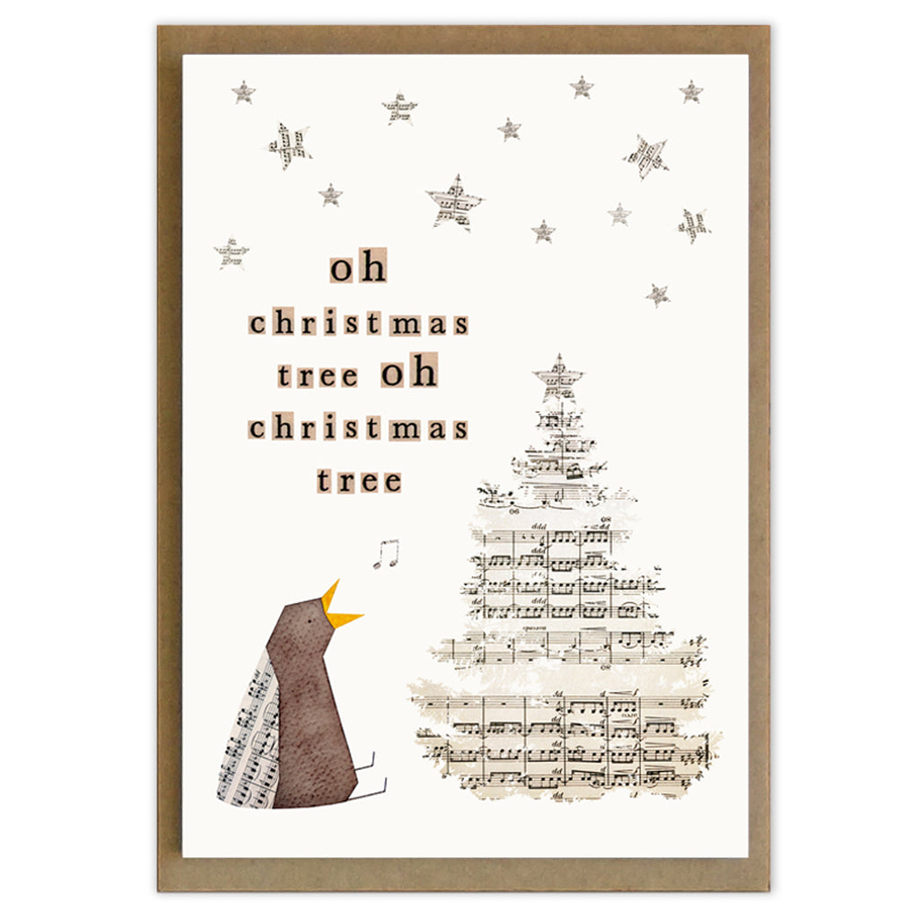 Word Bird Christmas Cards set of 6 Prickle and POP
