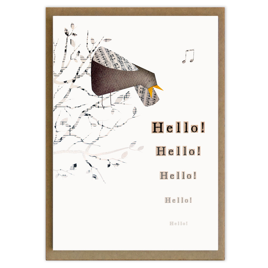 Word Bird Greeting Cards (set of 6)