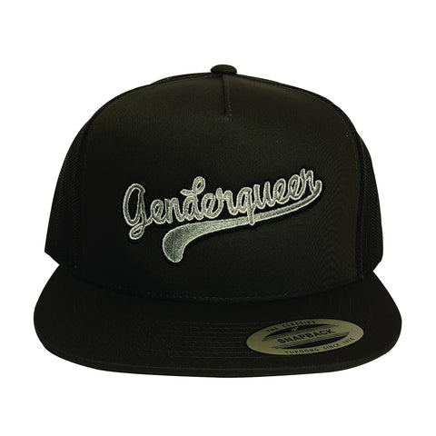 GENDERQUEER charcoal grey trucker hat
