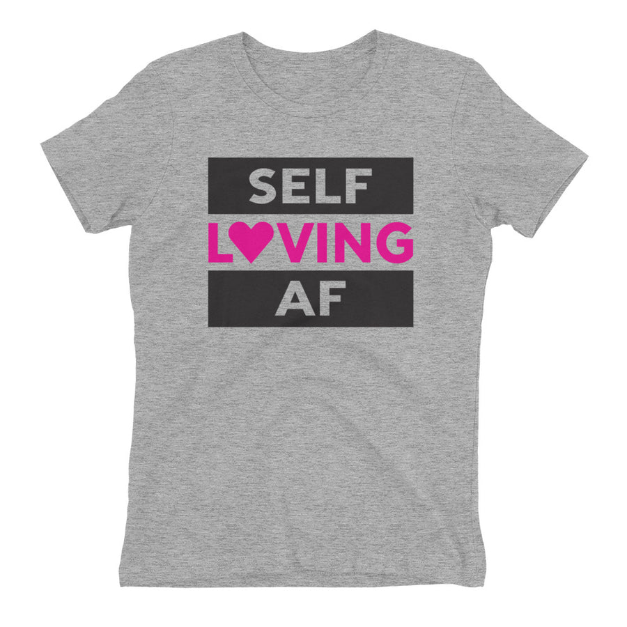 SELF LOVING AF heather grey shirt