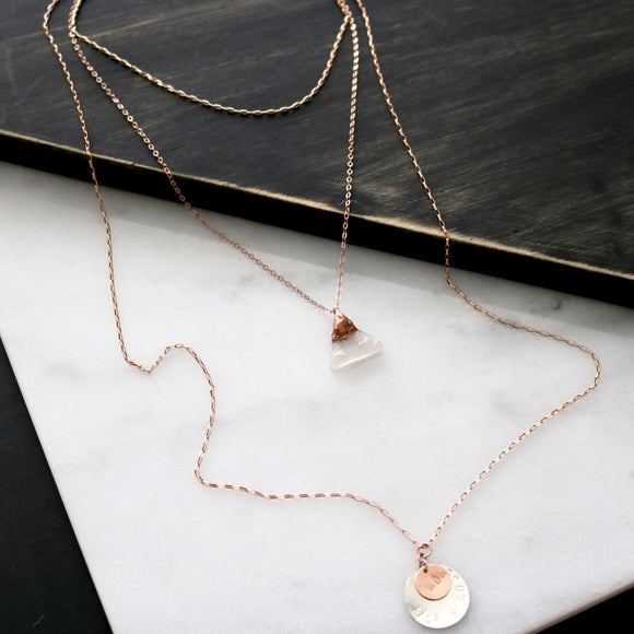 PETITE layering necklace