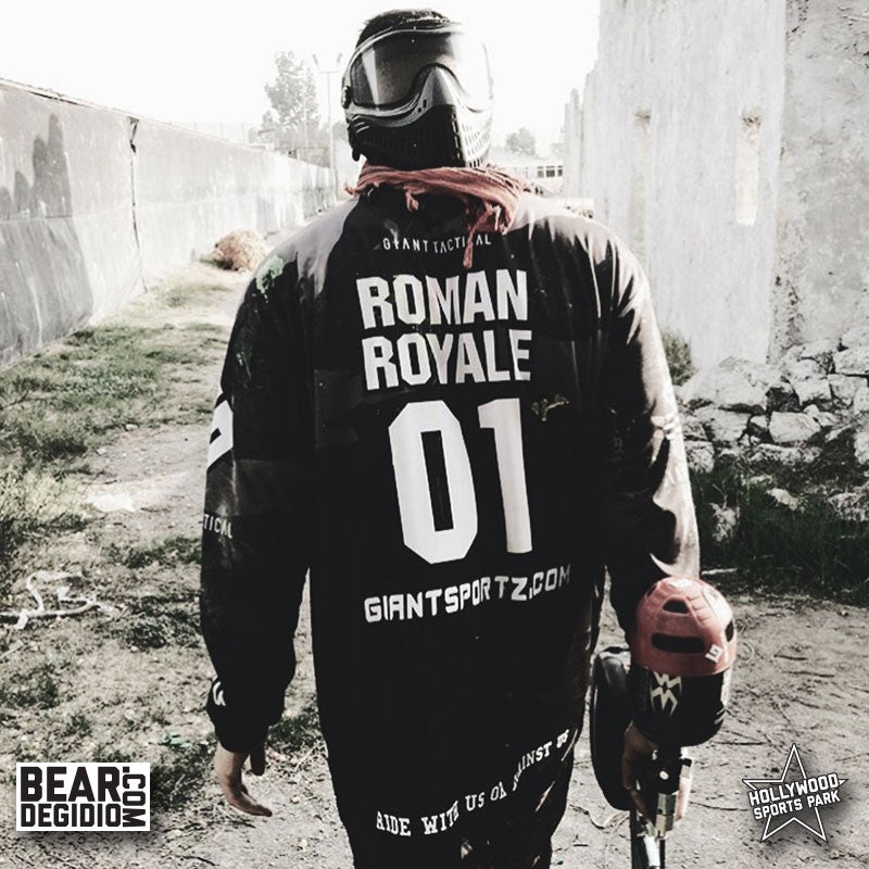 Roman Royale, Purpdrank and Piques wear Giant Tactical gear at Hollywood Sports