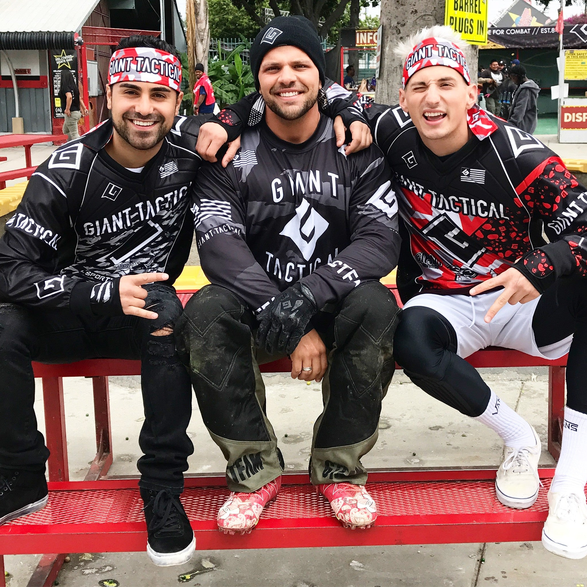 MARK DOHNER AND GEORGE JANKO PLAY PAINTBALL WITH BEAR DEGIDIO AT HOLLYWOOD SPORTS PARK