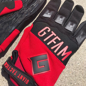 GIANT TACTICAL 2018 GTFAM GLOVES - RED