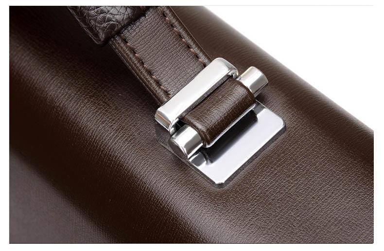 Bluora's Leather Business Briefcase