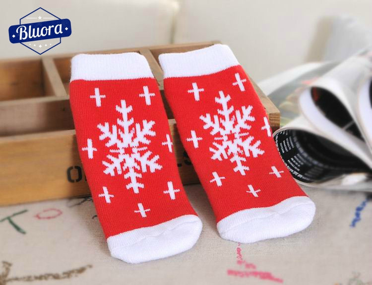 Christmas Themed Baby Socks - Bluora