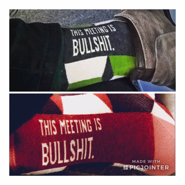 This Meeting is Bullshit Socks