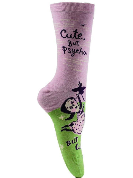 Cute. But Psycho. - The Sock Bar Novelty Socks