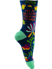 Delicate Fucking Flower - The Sock Bar Novelty Socks