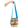 Coffee Woven Mochila Bucket Bag