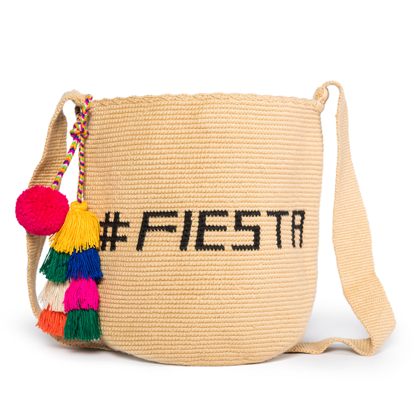 Fiesta Woven Mochila Bucket Bag - Main