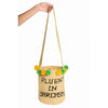 FLUENT IN SARCASM WOVEN MOCHILA BUCKET BAG - 3