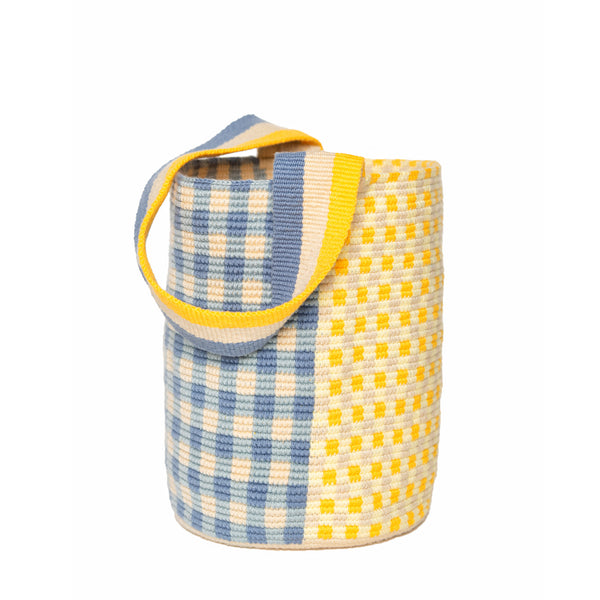 Blue Gingham Bucket bag