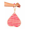 Red Heart Shaped Iraka Palm Fan