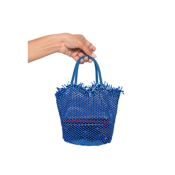 Blue Mini Beaded Bag