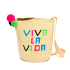Viva la vida Woven Mochila Bucket Bag - Main