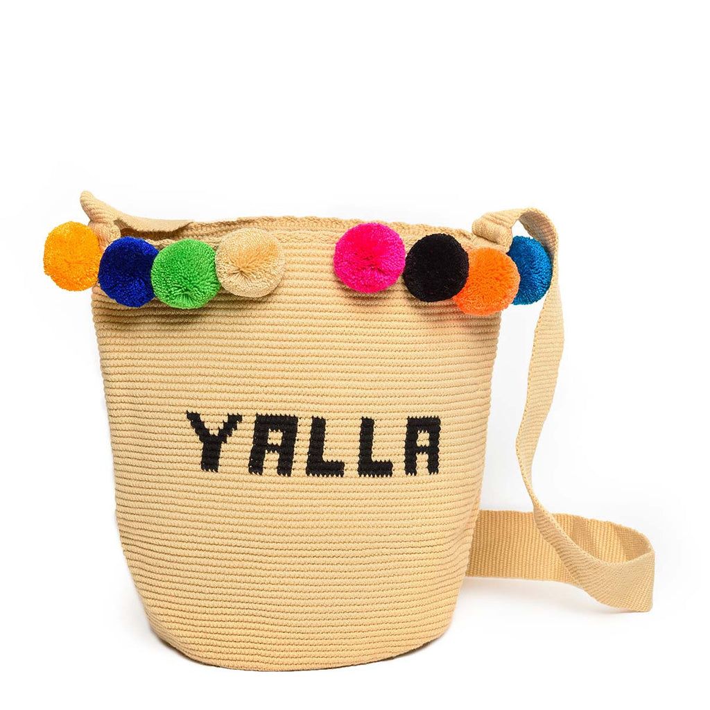 Yalla Woven Mochila Bucket Bag - Main