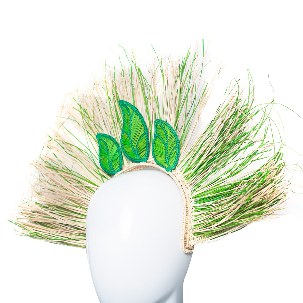EVA Wild Green Iraka Palm Headband