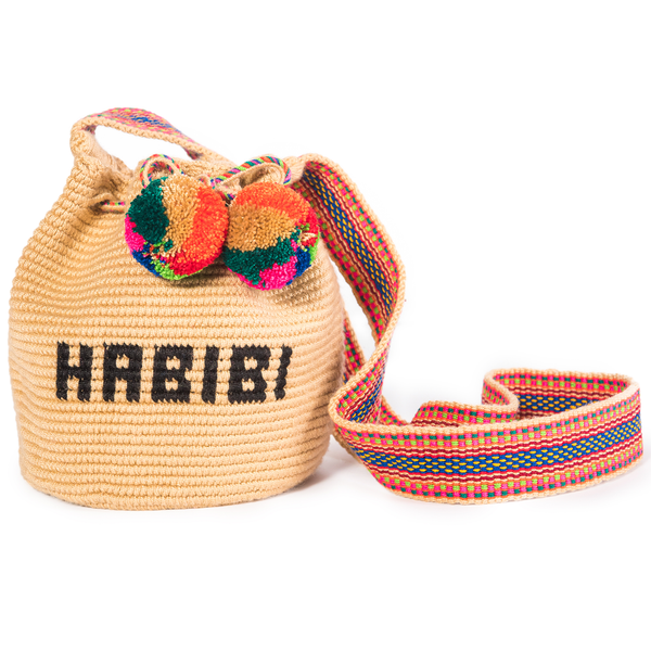 Mini Habibi Woven Mochila Bucket Bag - 1