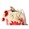 Flower Woven Mochila Bucket Bag - 2
