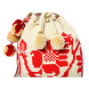 Flower Woven Mochila Bucket Bag