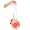 Flower Woven Mochila Bucket Bag - 4