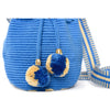 Mini Blue Jean Woven Mochila Bucket Bag - 4