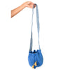 Mini Blue Jean Woven Mochila Bucket Bag - 5