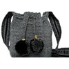 Mini Zebra Woven Mochila Bucket Bag - 4