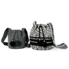 Mini Zebra Woven Mochila Bucket Bag - 3