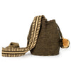 Mini Cappuccino Woven Mochila Bucket Bag - 2