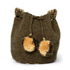 Mini Cappuccino Woven Mochila Bucket Bag - 5