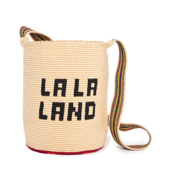 La La Land Woven Mochila Bucket Bag