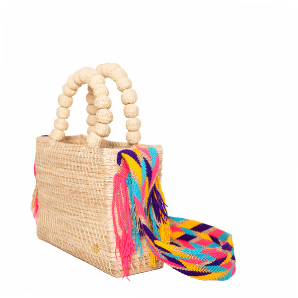 Shirley Basket with Colorful Wayuu Strap